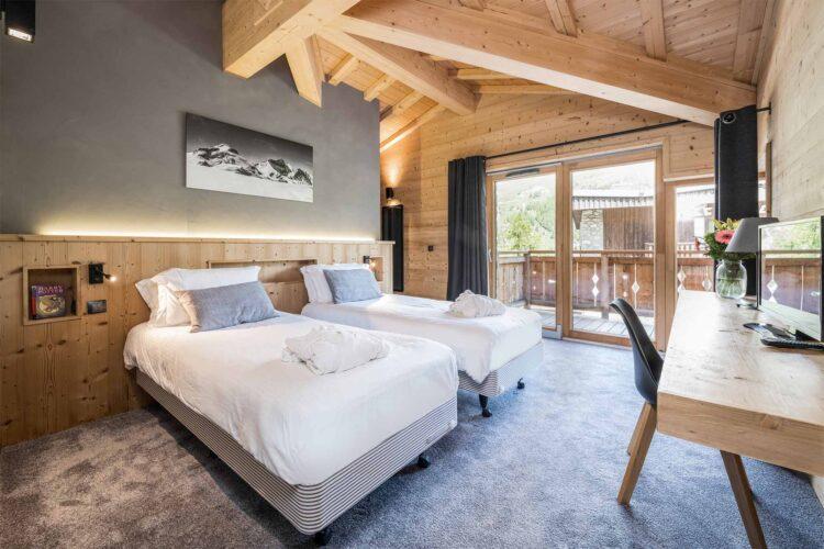 Chalet Alpinium 1 - Twin bedroom