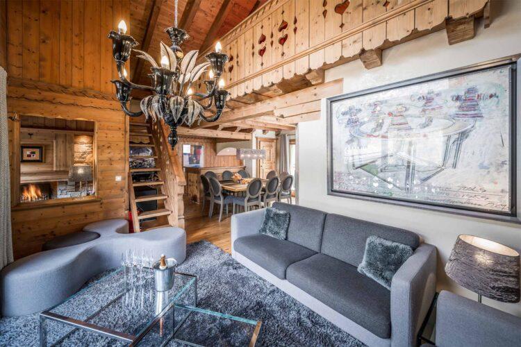 Chalet Mariefleur - Living room